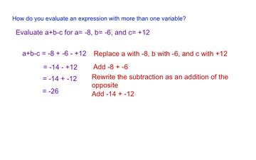 Topic 15-6 Evaluating Expressions
