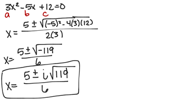 Solving A Quadratric Equation For All Roots
