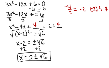 Solving A Quadratic Equation By Completing The Square (b Is Not Even, A Is Not 1)