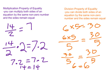 Topic 16-1/16-2 Properties Of Equality
