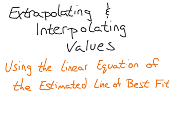 Extrapolating And Interpolating Data Using An Equation