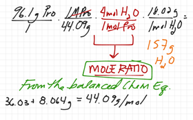 Theoretical Yield (stoichiometry & mass-to-mass)