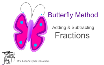Butterfly Method Addition And Subtraction Of Fractions