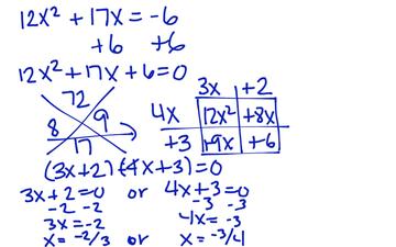 Nov 4th: Solving quadratic equations be factorization | Just ...